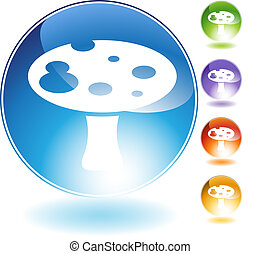 kristal, paddenstoel, pictogram