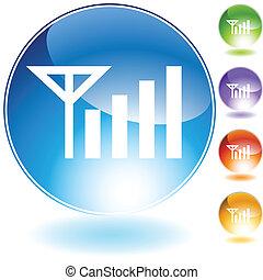 kristal, signaal, pictogram