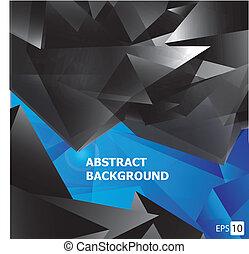 kristall, abstrakt, vektor, design, hintergrund