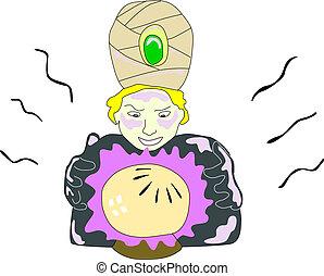 kristall ball, voraussage