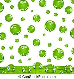 kristall kugeln, grün