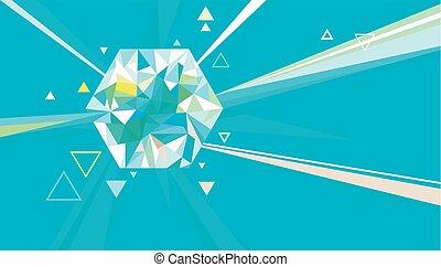 kristall, lätt, fångar, kvarts, design