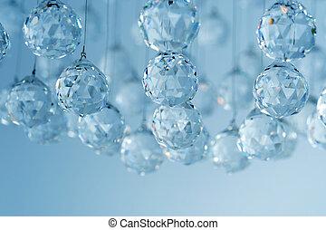 kristall, ljuskrona, nymodig