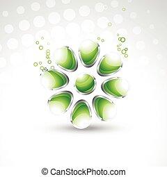kristall, vektor, 3d