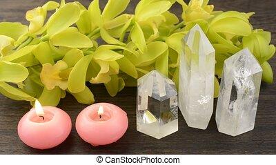 kristallen, en, kaarsjes