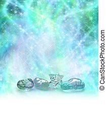 kristallen, kosmisch, het helen