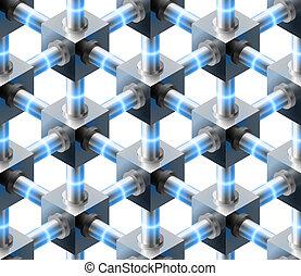 kristallisk, pattern., seamless