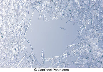 krister, närbild, is