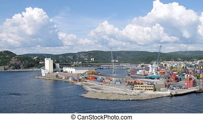 Port in city of Kristiansand