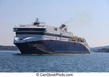 Kristiansand harbor cruise ship in Norway