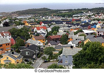 kristiansund, pueblo pequeño, en, noruega