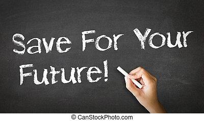 krita, räddning, framtid, din, illustration