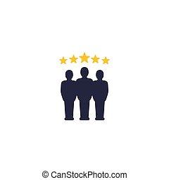 kritik, auswertung, mannschaft, ikone