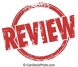 kritik, bewertung, produkt, wort, briefmarke, kritik, kreis...