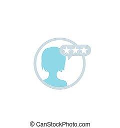 kritik, rückkopplung, kunde, bewertung, vermessung, ikone