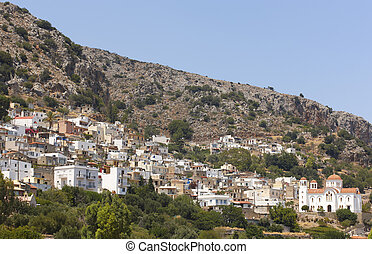 Kritsa traditional village in Crete, Greece
