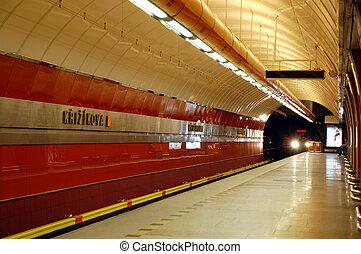 Krizikova Metro Station