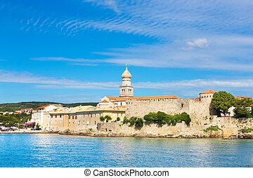 Krk town, Mediterranean, Croatia, Europe - Famous touristic ...