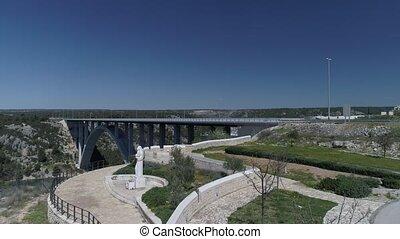 krka, γέφυρα , εναέρια