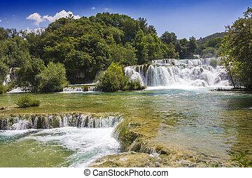 krka, cascadas