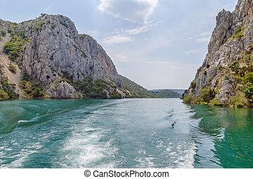 krka, national, kroatien, park, steinen