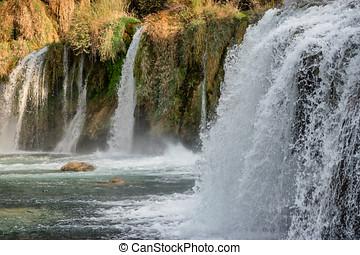 krka, nationalpark, wasserfälle, in, kroatien