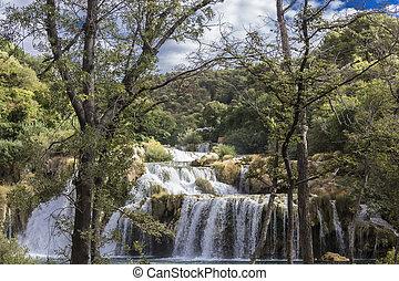 krka, nationalpark, wasserfälle