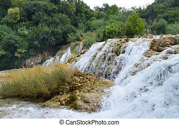 Krka park waterfall  in croatia