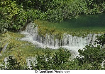 krka, río, cascadas