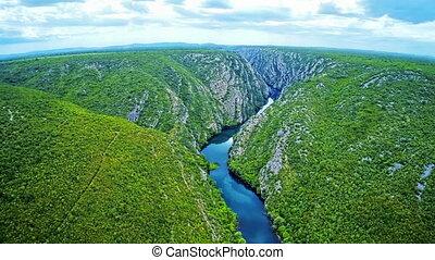 Krka river flow - National park