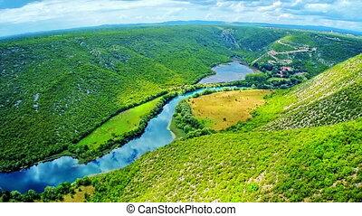 Krka river national park - aerial
