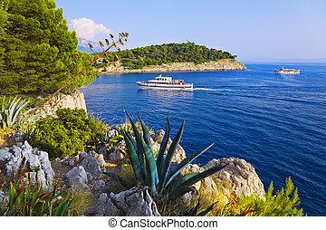 kroatien, schiff, makarska, kueste
