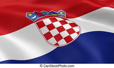 kroatisch, fahne, wind