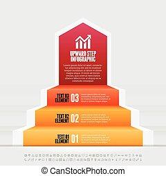 krok, infographic, zwyżkowy