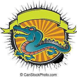 krokodil, banner