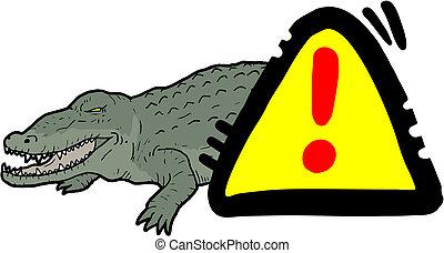 krokodil, gevaar