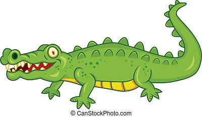 krokodil, karikatur