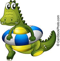 krokodil, lifebouy