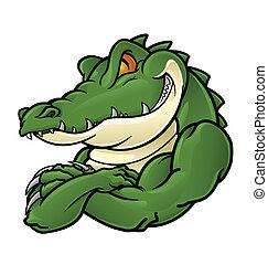 krokodil, maskottchen
