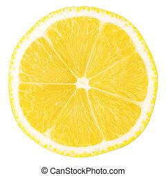 kromka, cytryna, jadło, makro, -, zbiór