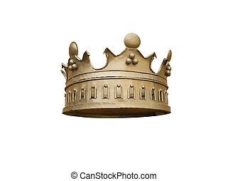 krona, på, a, vit fond
