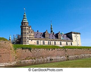 Kronborg Castle of Hamlet Elsinore Helsingor Denmark -...