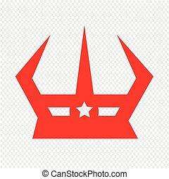krone, design, abbildung, ikone