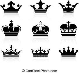 krone, design, sammlung