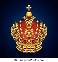 krone, gold, königlich, hintergrund, dunkel, groß
