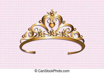 krone, gold