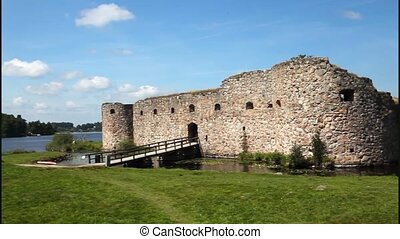 Kronoberg fortification Sweden - Medieval fortification of...