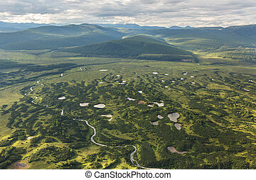 Kronotsky Nature Reserve on Kamchatka Peninsula. View from ...