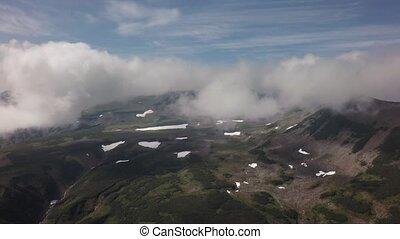 Kronotsky Nature Reserve on Kamchatka Peninsula. View from...