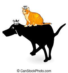 kroon, dog, kat